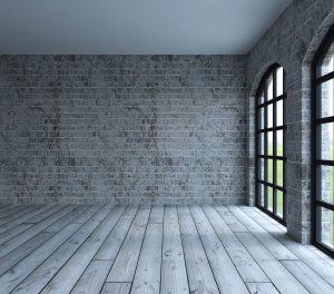 Moderne Wandgestaltung mit Holzboden